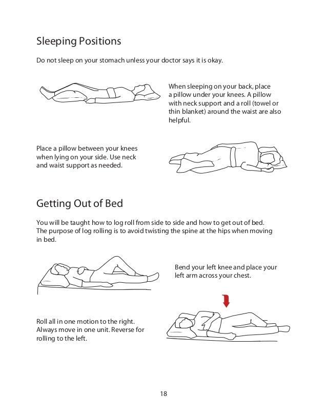 Best way to sleep with spondylolisthesis