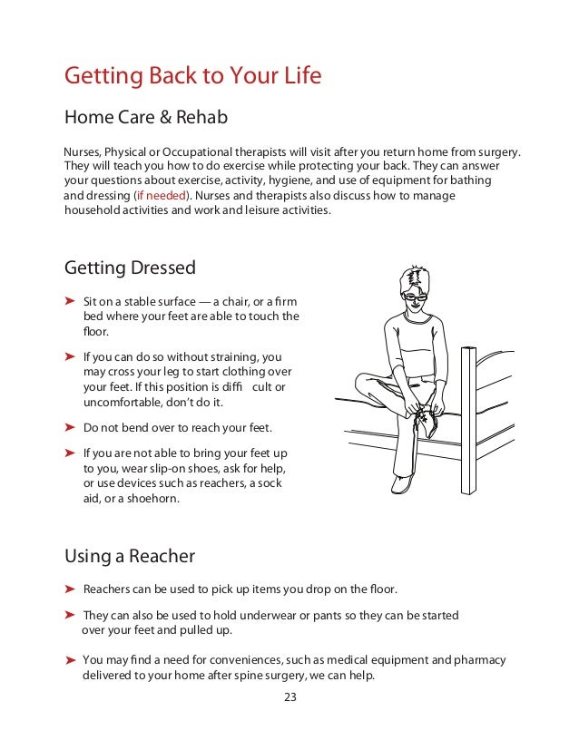 what to wear home after back surgery