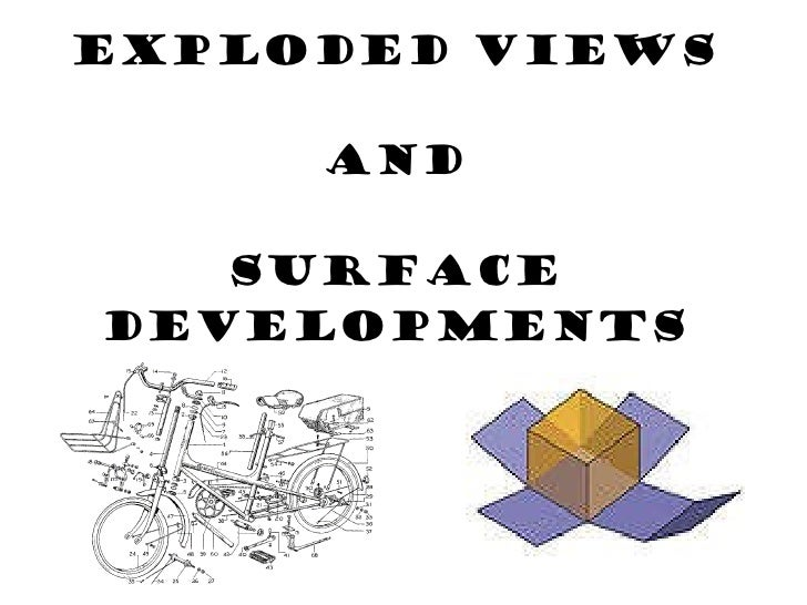 Exploded views and surface developments