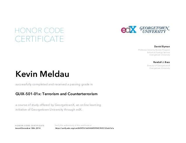 Terrorism And Counterterrorism Georgetown University