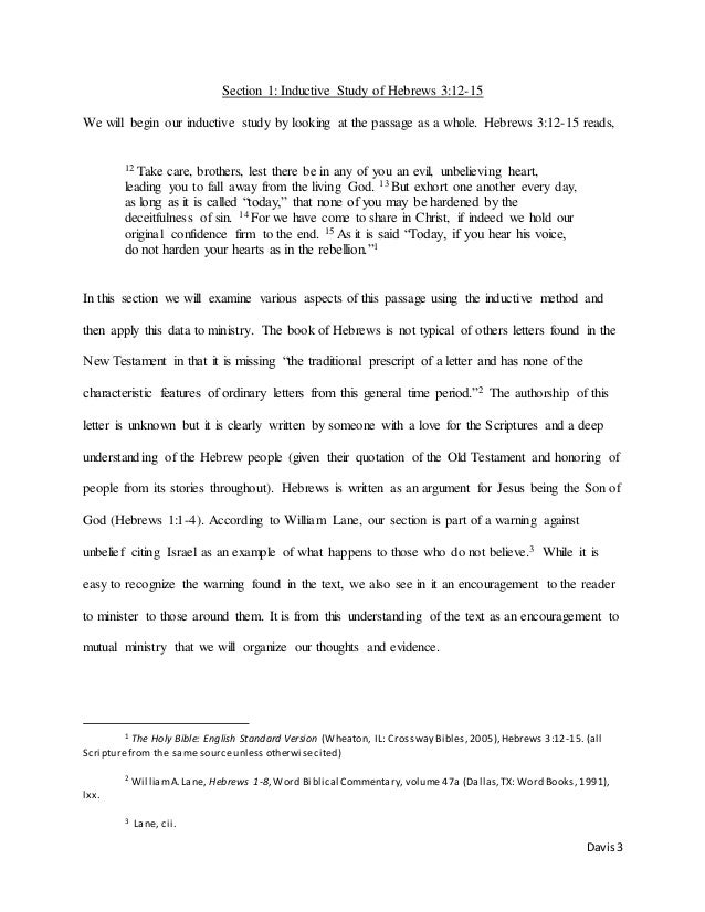 inductive exegesis paper Nt22600 – greek exegesis of matthew an inductive study of the greek of the gospel of matthew and exegesis of selected exegetical paper (incl summary.
