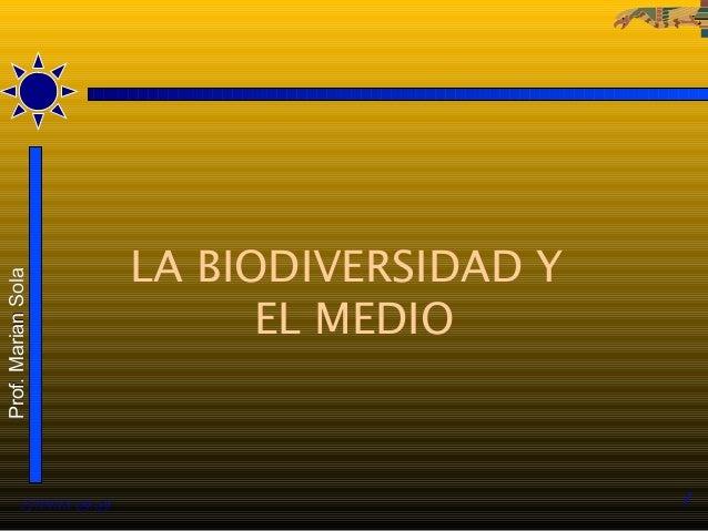LA BIODIVERSIDAD YProf. Marian Sola                                 EL MEDIO          27/01/13 09:59                      ...