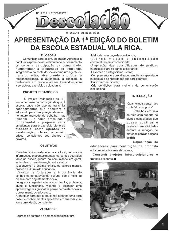 1ª edição do boletim informativo