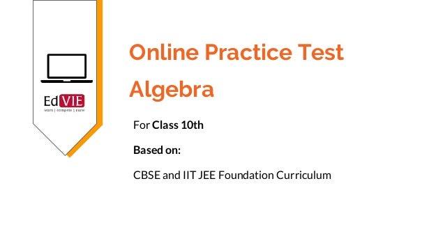 Cbse Class   Algebra Online Practice Test