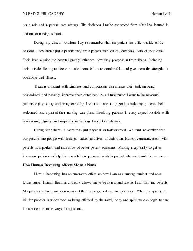 my nursing philosophy paper