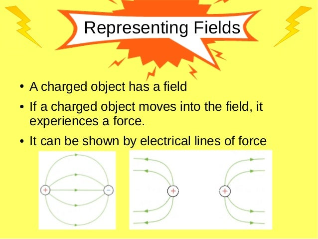 Representing Fields ● A charged object has a field ● If a charged object moves into the field, it experiences a force. ● I...