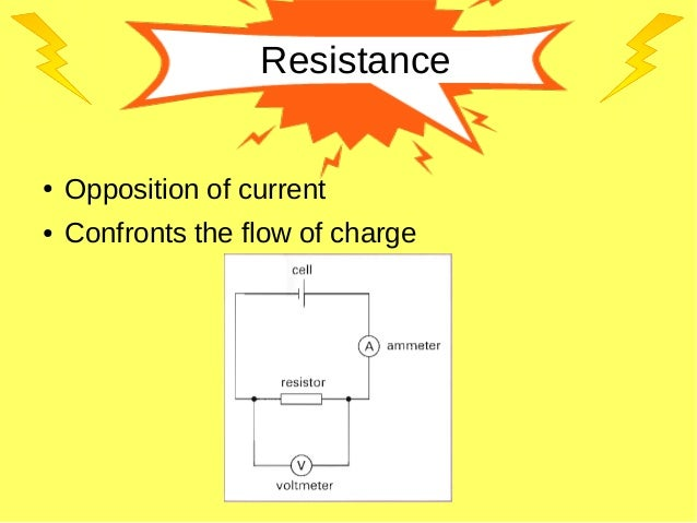 Resistance ● Opposition of current ● Confronts the flow of charge