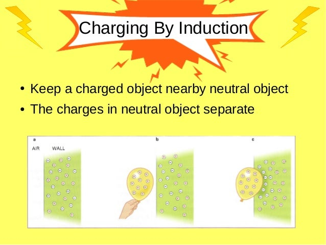Charging By Induction ● Keep a charged object nearby neutral object ● The charges in neutral object separate
