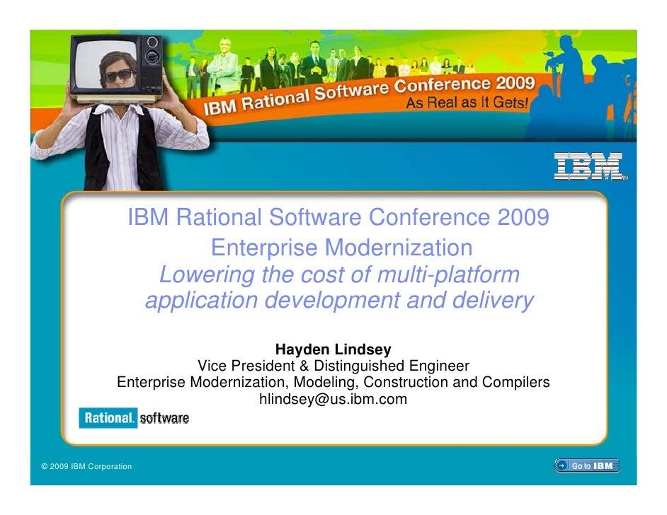 IBM Rational Software Conference 2009                         IBM Rational Software Conference 2009                       ...