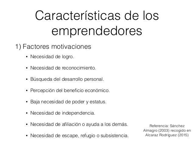 Emprendedores Datos Características Enfoques