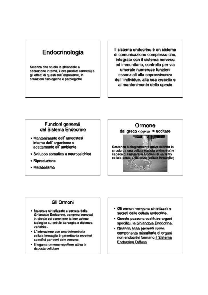 Il sistema endocrino è un sistema        Endocrinologia                            di comunicazione complesso che,        ...