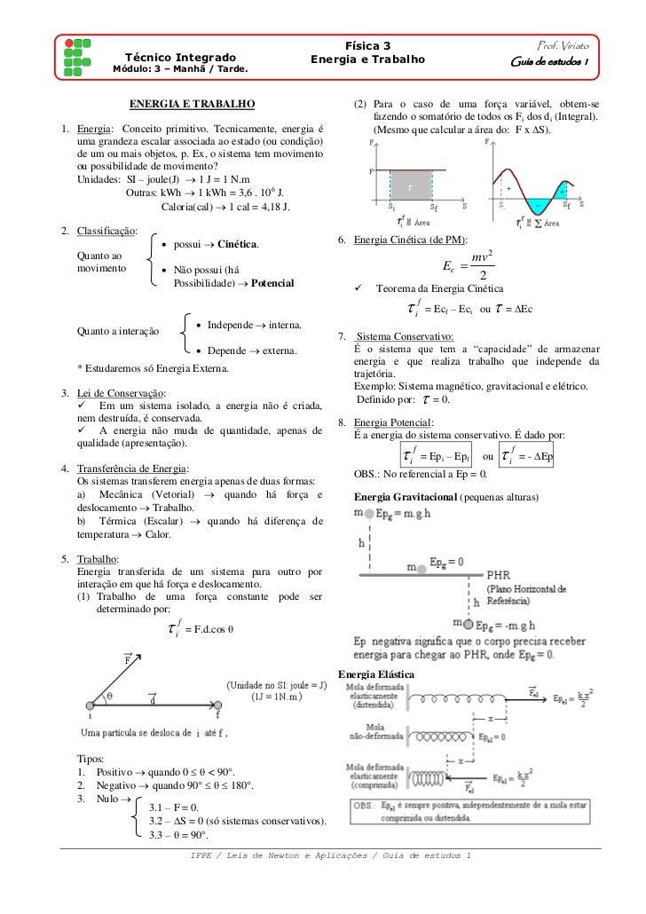 Física 3                                             Prof. Viriato              Técnico Integrado                         ...