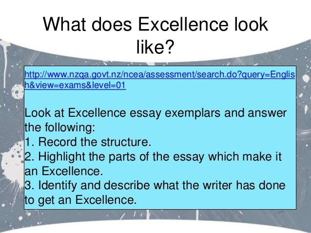 Level 1 English assessment resources