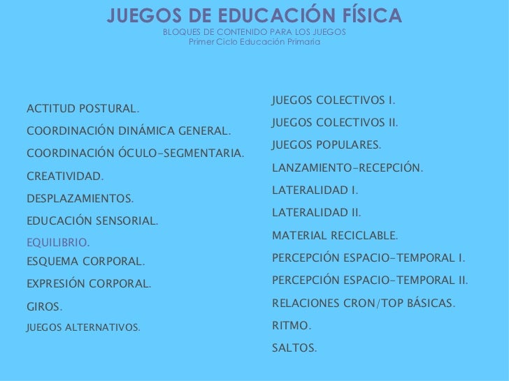 ACTITUD POSTURAL . COORDINACIÓN DINÁMICA GENERAL . COORDINACIÓN ÓCULO-SEGMENTARIA . CREATIVIDAD . DESPLAZAMIENTOS . EDUCAC...
