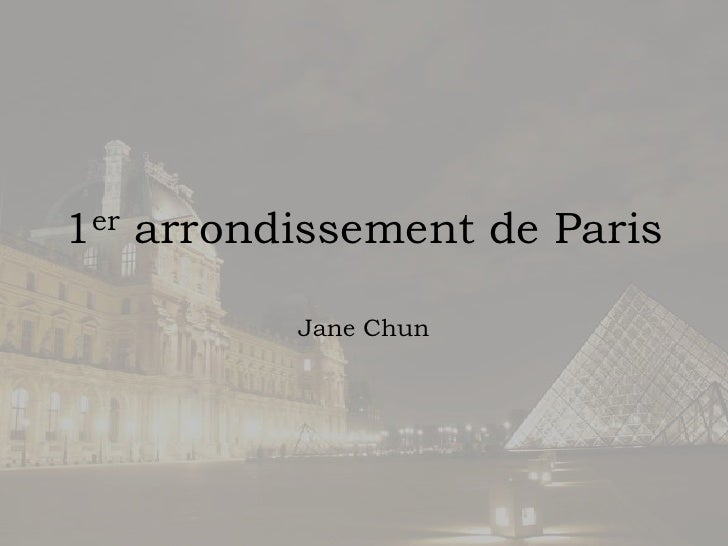 1er arrondissement de Paris<br />Jane Chun<br />