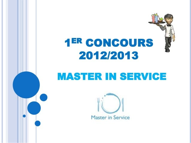 1ER CONCOURS   2012/2013MASTER IN SERVICE