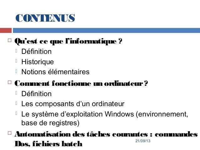 1er cours for Architecture informatique definition