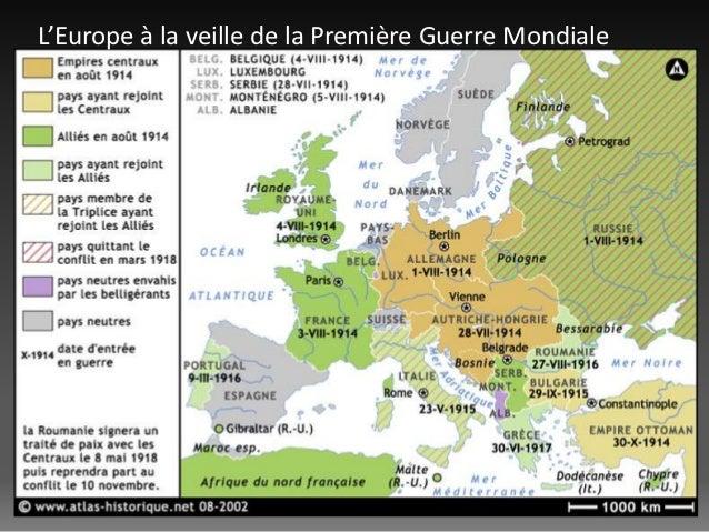 L'Europe à la veille de la Première Guerre Mondiale