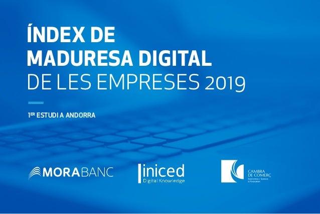 ÍNDEX DE MADURESA DIGITAL DE LES EMPRESES 2019 1ER ESTUDI A ANDORRA