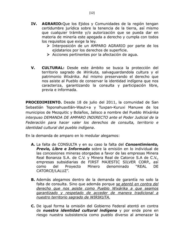 [12] IV. AGRARIO:Que los Ejidos y Comunidades de la región tengan certidumbre jurídica sobre la tenencia de la tierra, así...
