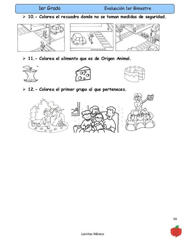 Examen 1er grado bimestre 1(11-12)