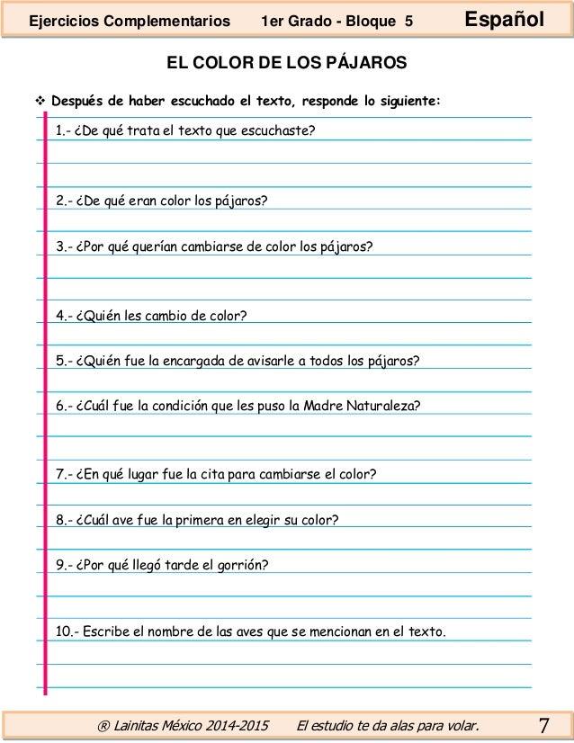 1er grado bloque 5 - ejercicios complementarios (1)