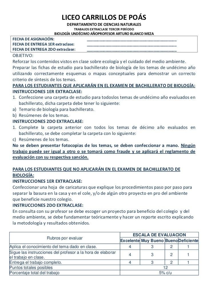 LICEO CARRILLOS DE POÁS                               DEPARTAMENTO DE CIENCIAS NATURALES                                  ...
