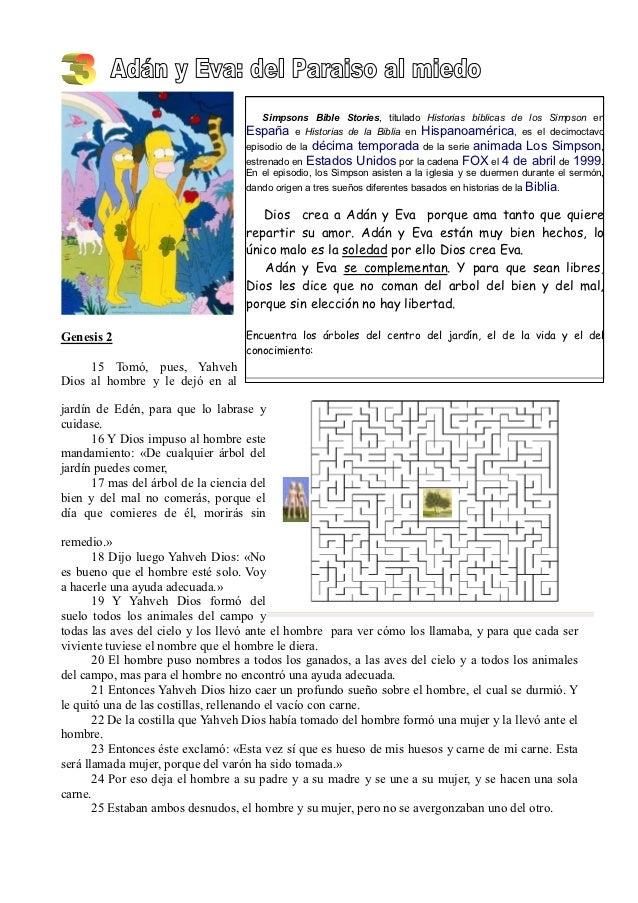 Simpsons Bible Stories, titulado Historias bíblicas de los Simpson en                                    España   e Histor...