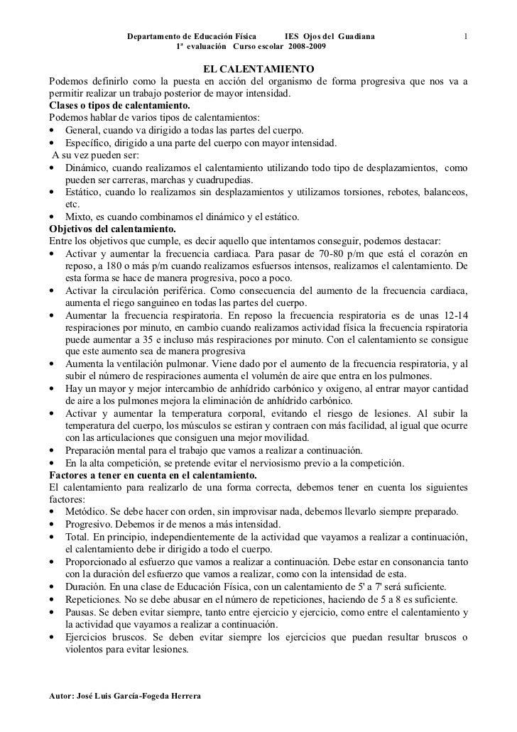 Departamento de Educación Física      IES Ojos del Guadiana                     1                               1ª evaluac...