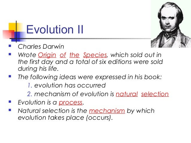 Darwin S Six Steps Of Natural Selection