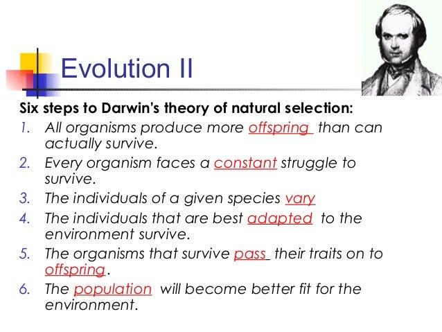 Darwin S Six Steps Of Natural Selection
