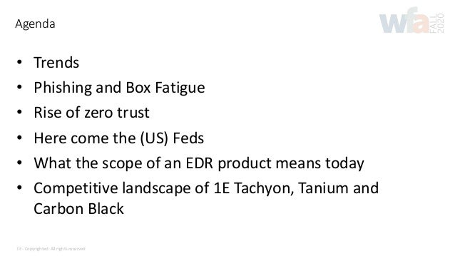 What endpoint protection solutions are available on the market today? Slide 3