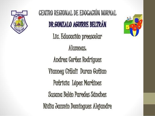 Lic. Educación preescolar Alumnas: Andrea Cortez Rodríguez Vianney Citlali Duran Gutian Patricia López Martínez Susana Bel...