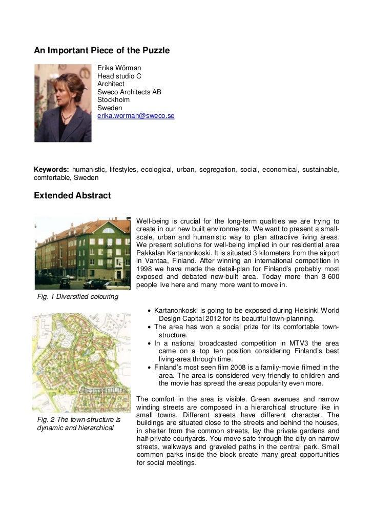 An Important Piece of the Puzzle                     Erika Wörman                     Head studio C                     Ar...