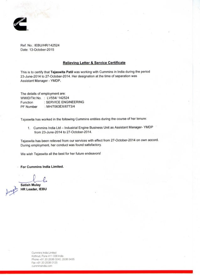 Experience Letter Experience Letter This Is To Certify That Ms – Samples of Experience Certificate