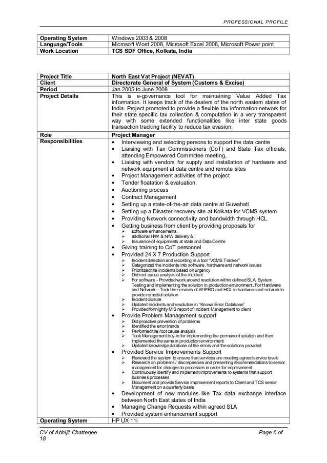110852 resume abhijit chatterjee details