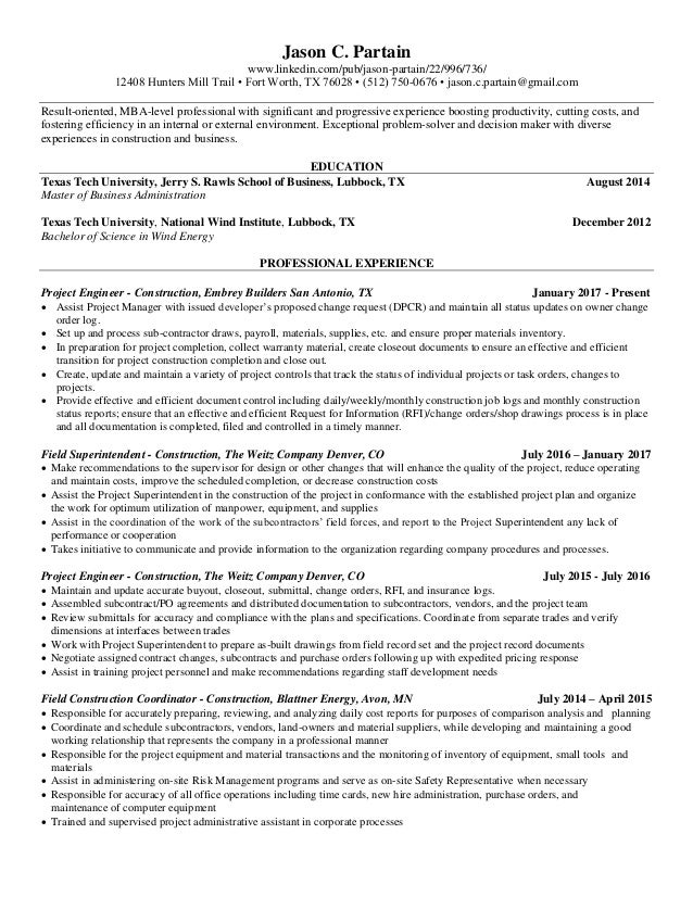 Jason Partain Resume