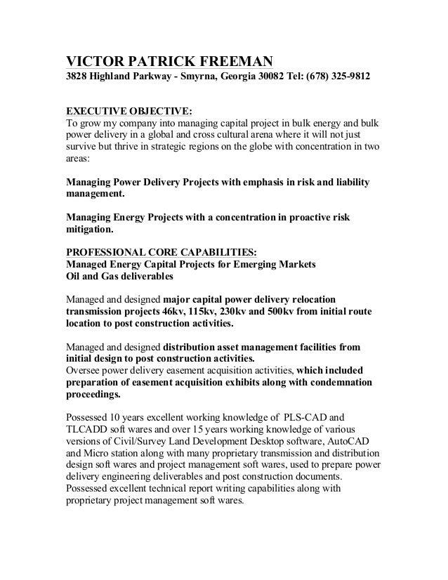 Resume of Victor P. Freeman - 2
