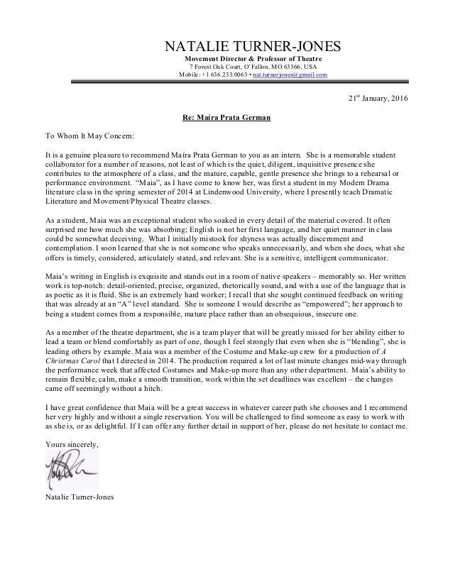 maia prata german recommendation letter