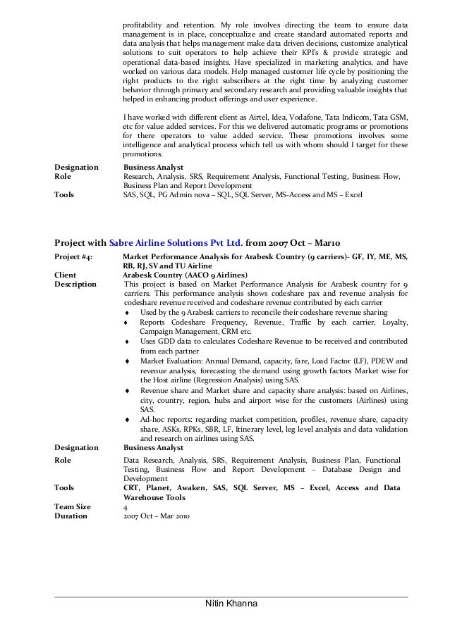 Business Analyst Resumes Senior Business Analyst Resume Business