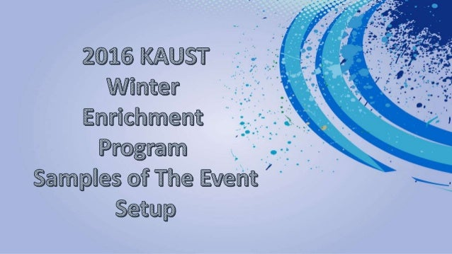 2016 KAUST Winter Enrichment Program
