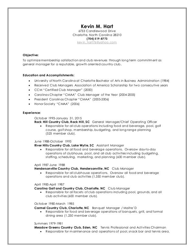 Kevin M. Hart - Resume 2015