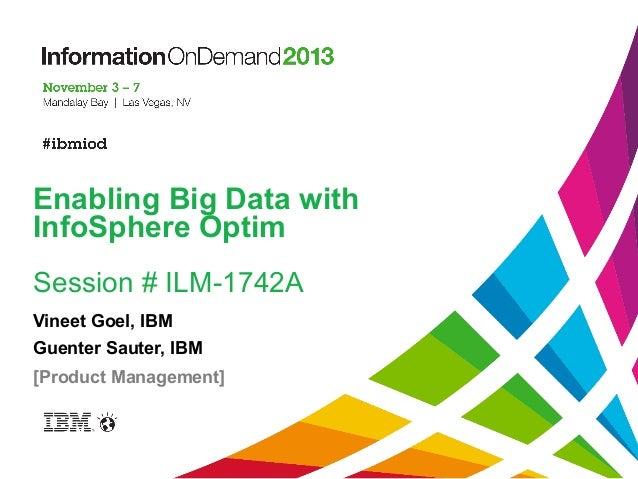 Enabling Big Data With Ibm Infosphere Optim