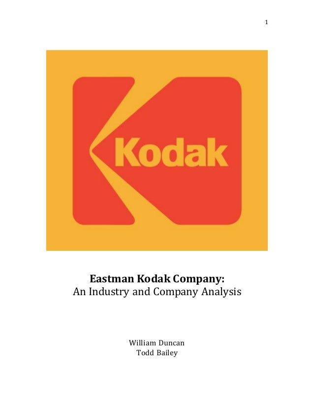 eastman kodak case study solution A framework for optimizing the supply chain: a case study at kodak by clinton j rockwell european consumer imaging division of eastman kodak company in the european, african and middle eastern region to give both depth and breadth to the analysis, information flow maps are generated at two levels.
