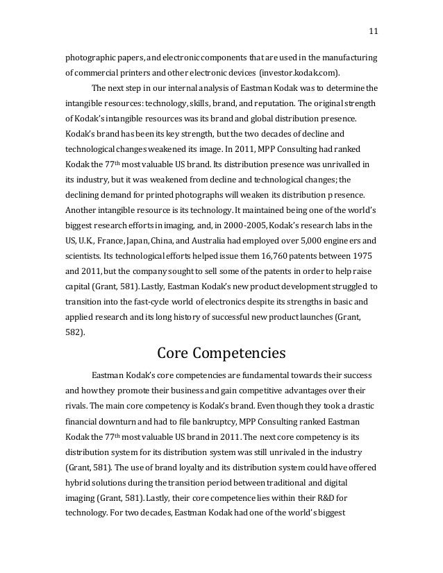kodak eastman case essay According to a 2005 case study for harvard business school,  essays related to the eastman kodak business failure 1  eastman kodak,.