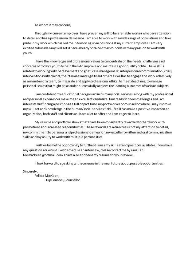 Social Services Cover Letter from image.slidesharecdn.com
