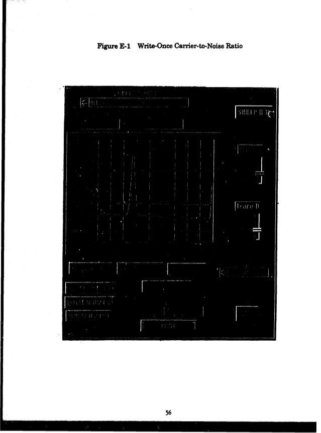 Figure E 1 Write Once Carrier to Noise Ratio 56