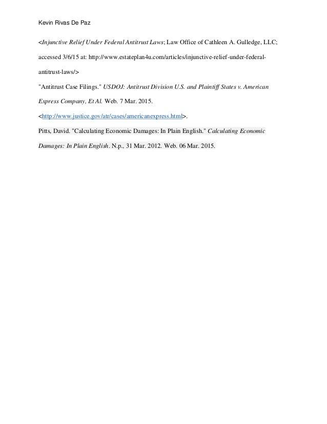 public policy in private markets essay doj vs amex et al references 9