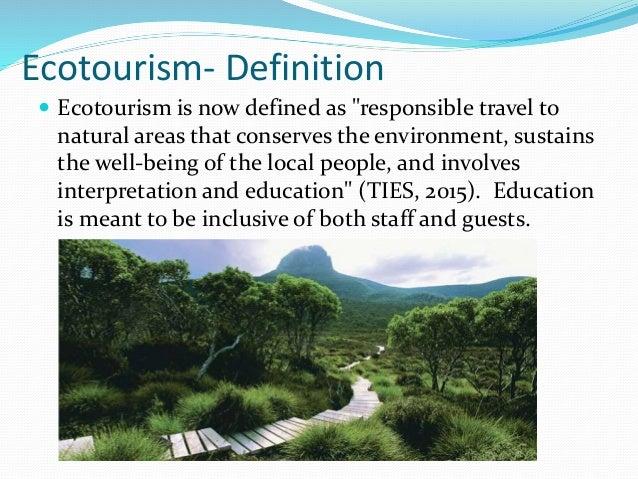 Definition of ecotourism