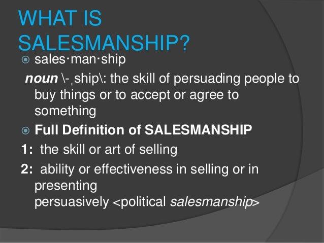 THE ART OF SALESMANSHIP
